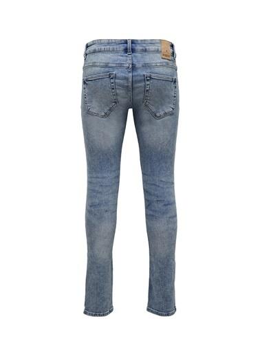 Only & Sons Only & Sons Düşük Bel Mavi Denim Pantolon Renksiz